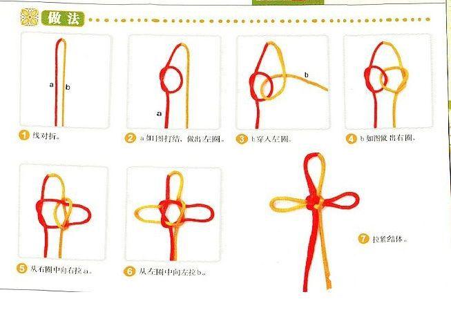 中国结编织工艺-纳福的万字结编织方法